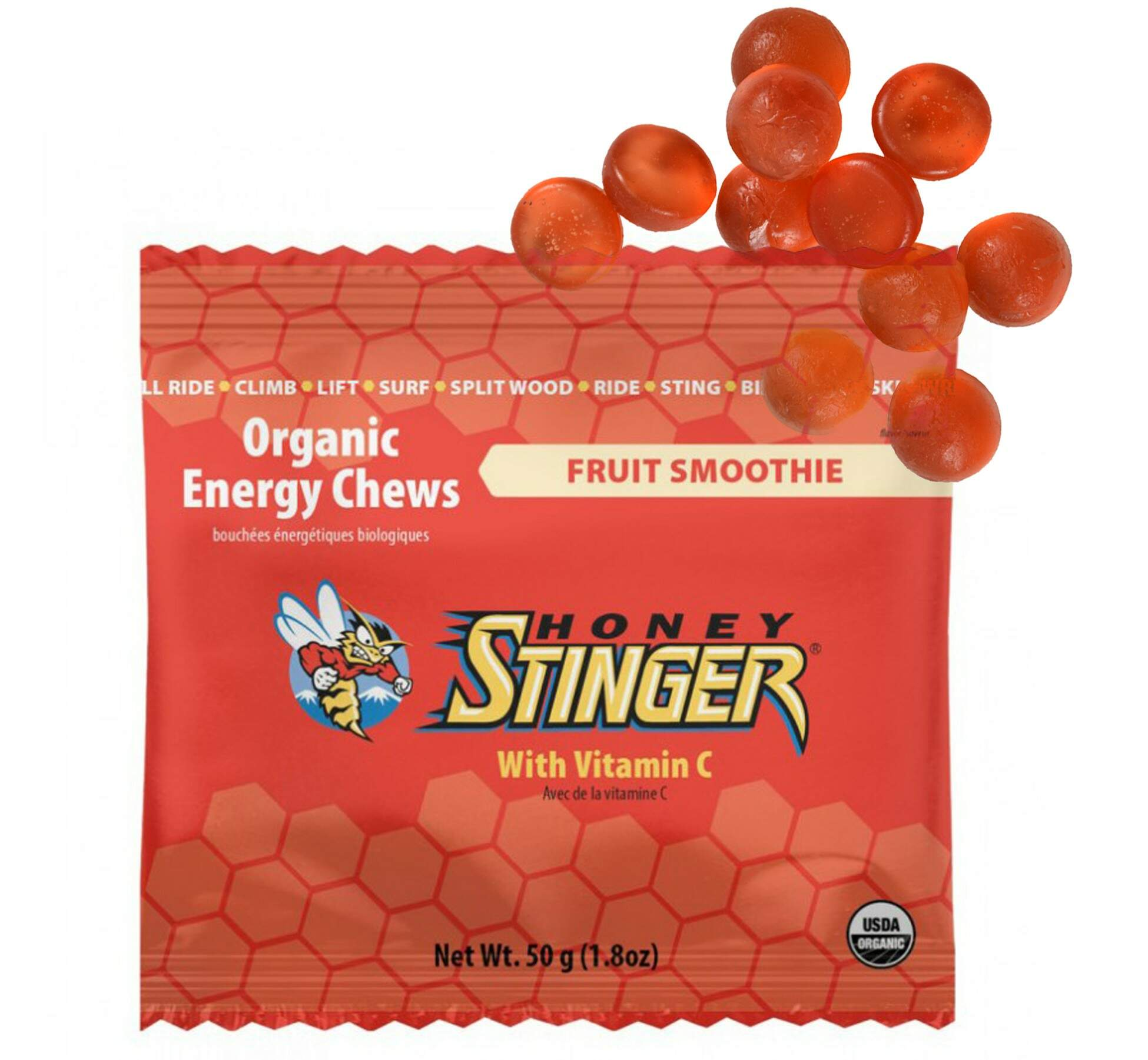 Goma Honey Stinger Organic Chews Mix de Frutas