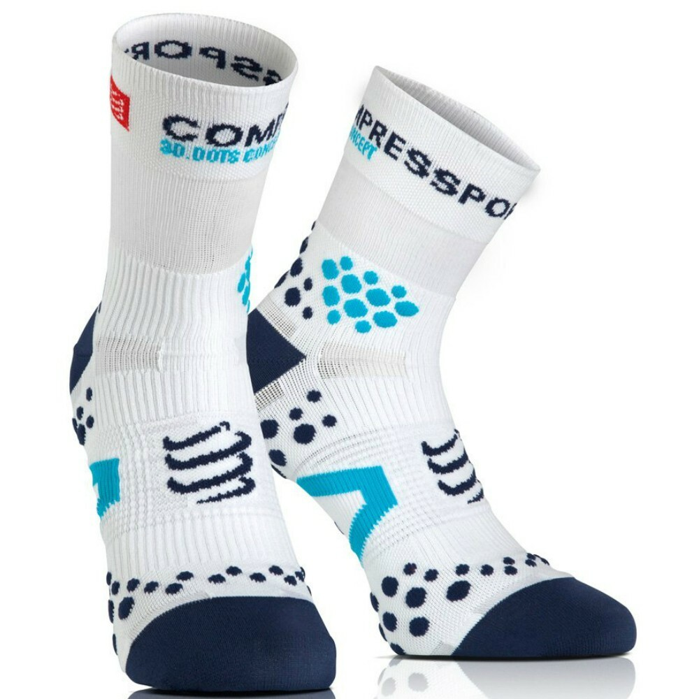 Meia cano alto Compressport Racing Socks V2.1 Run Highcut
